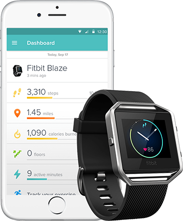 Fitbit App and Fitbit Blaze